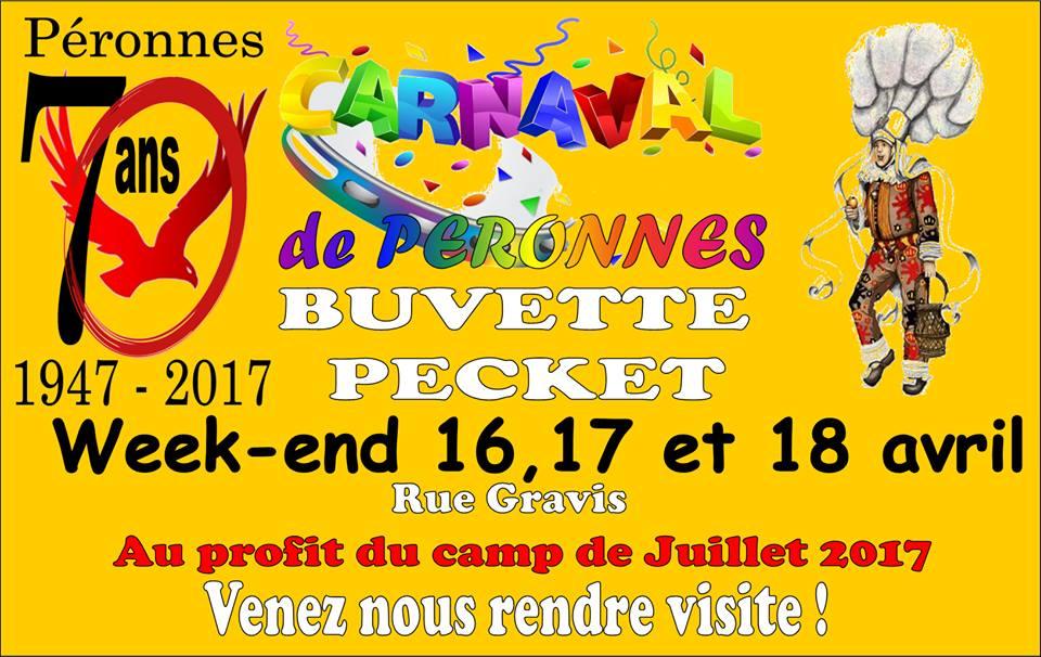 2017 - Dimanche 16 avril au mardi 18 avril 2017 les 70 ans du carnaval de  PERONNES  Carnaval-2017-de-peronnes-belgique
