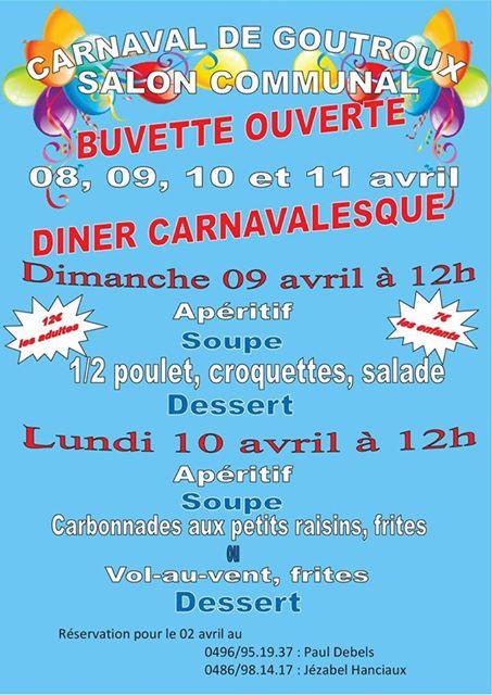 2017 - Du samedi 08 avril 2017 au lundi 10 avril 2017 Diner carnavalesque de GOUTROUX Carnaval-de-goutroux-2017