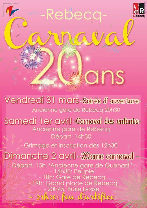 mars - Vendredi 31 mars au  dimanche 2 avril 2017, 20ème Carnaval  Rebecq  Carnaval-de-rebecq-2017