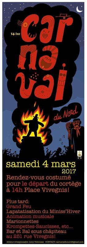 mars - Samedi 04 mars 2017 Carnaval du nord Xiv Quartier Saint Léonard  251 Rue Vivegni Carnaval-du-nord-de-liege-2017-belgique