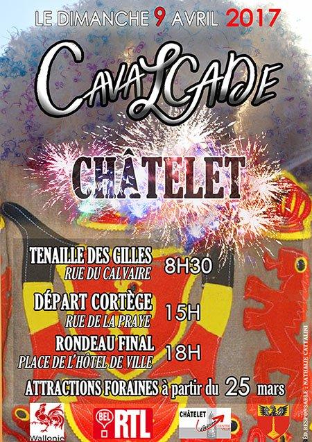 2017 - Dimanche 09 avril 2017 au  Lundi 10 avril 2017 cavalcade du  CHÂTELET  Cavalcade-de-chatelet-2017-belgique